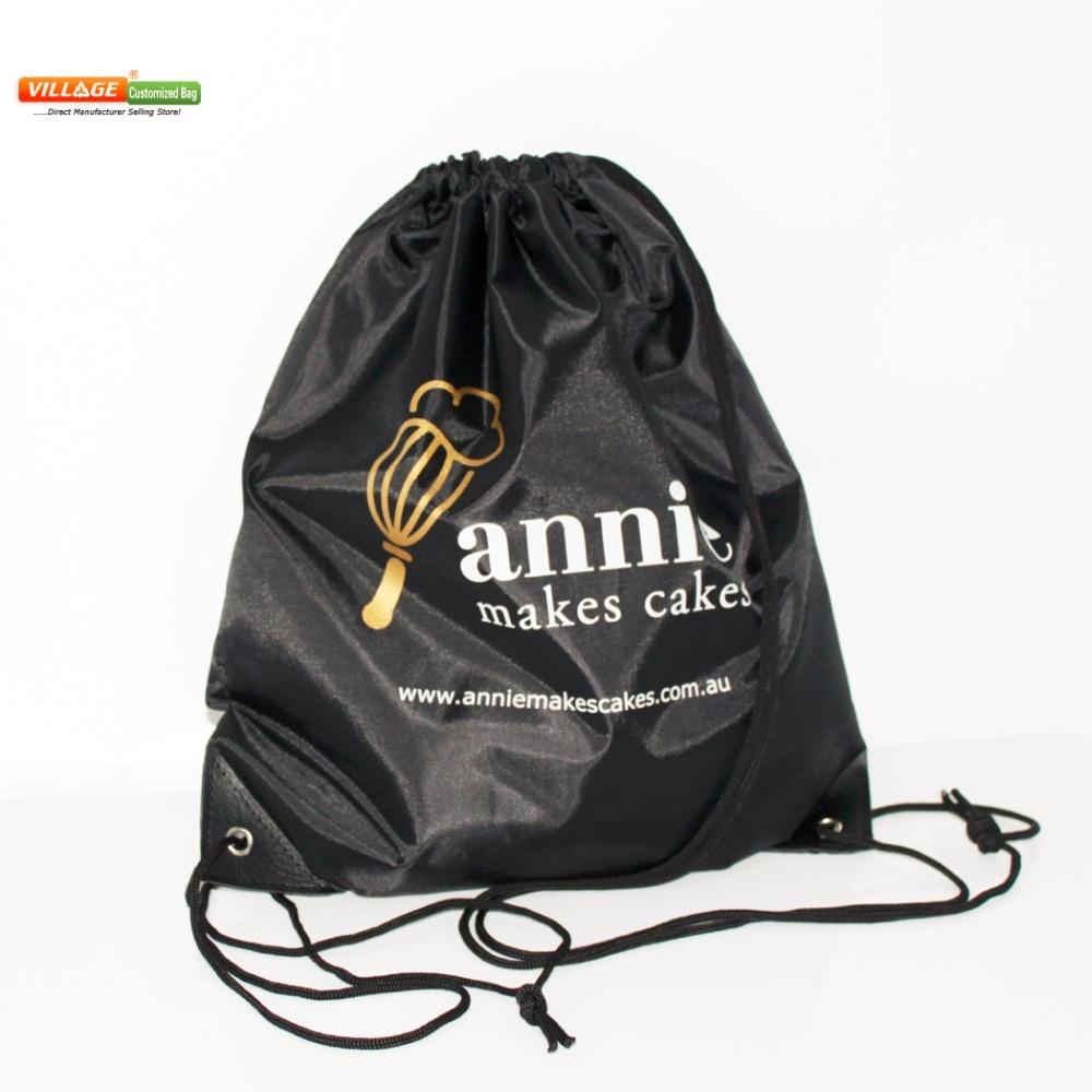 100pcs/Lots Custom Kids Cloth Drawstring Bags With Printing Logo String Backpack Bag For Girls