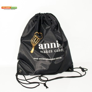 Image 1 - 100pcs/Lots Custom Kids Cloth Drawstring Bags with Printing Logo String Backpack Bag For Girls