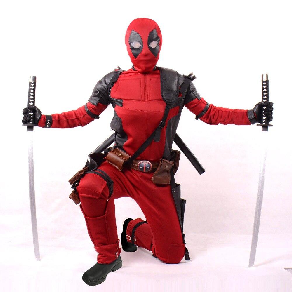 ms el tamao de encargo pelculas superhroe deadpool traje adulto cosplay traje de halloween para