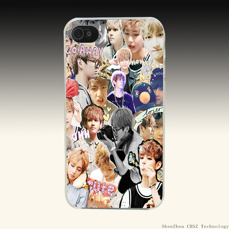 954e bts bangtan boys Design Hard Clear Case Transparent Cover for iPhone 4 4s 5 5s SE 6 6s 7 Plus