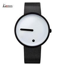 2017gift Enmex black & white Minimalist style wristwatch creative design Dot and Line simple stylish with  quartz  fashion watch