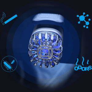 Image 5 - Purificateur dair frais 2 en 1 pour voiture, double USB, purificateur dair frais, barre doxygène, Ozone, générateur de fumée pour voitures, nettoyeur de voiture