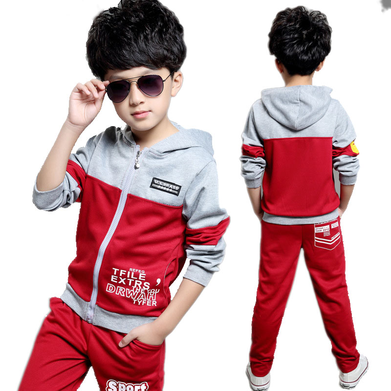 Girls Tracksuit 2017 New Autumn Children's Clothing Sets Letter Patchwork Kids Clothes Set Child Sport Suits Big Girl & Boy 2pcs boys clothing set kids sport suit children clothing girls clothes boy set suits suits for boys winter autumn kids tracksuit sets
