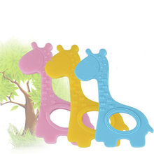 Baby Cute Giraffe Appease Teether Toy Teething Pacifier Molar Chew Infant Toddler Silicone BPA-Free Natural Organic Food Grade(China)