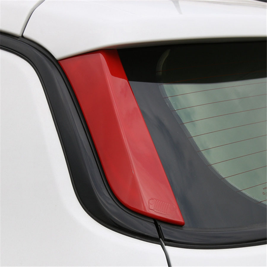 Fit For Jeep Compass 17+ Exterior Car Rear Tail Window Side Trim Decorative Sequins Cover Sticker Trim Styling ABS