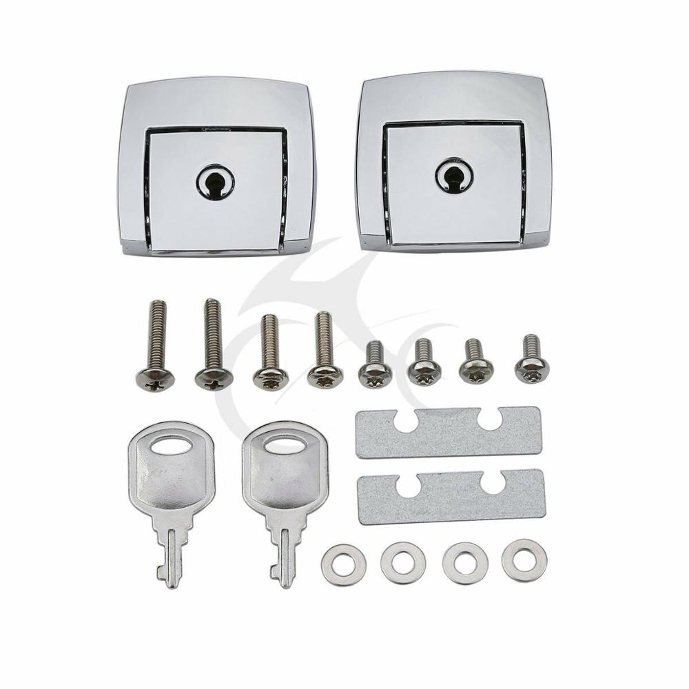 Motorcycle Chrome Tour Pack Pak Latch Cover For Harley Touring Electra Glide Road King 88-13