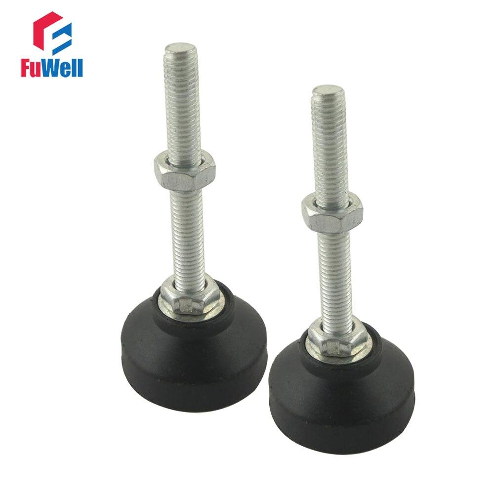 Pack 2-Furniture Leveler Adjustable Table Levelling Feet Glides 60-M12x50mm
