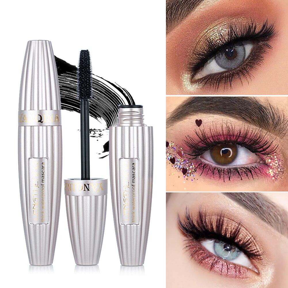 NEW 3D Fiber Mascara Long Black Lash Eyelash Extension Waterproof Eye Makeup Extension Eyelash 3D Fiber Lash Mascara Rimel TSLM2