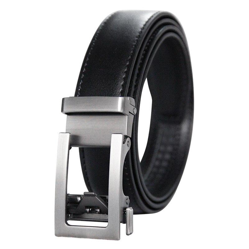 Attent Hoge Kwaliteit Mannen Ratel Klik Riem Lederen Jurk Riem Voor Mannen Jeans Holeless Automatische Glijdende Gesp Riemen