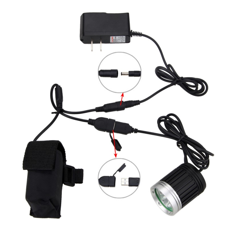 Bright 10000 Lumen USB Bike Lamp 3x XM-L T6 LED Front Bicycle Headlight 4 Modes Torch with Battery and Charger newest usb 8000 lumens flashlight led cree xm t6 l2 front torch bicycle light lamp with usb charger bike clip