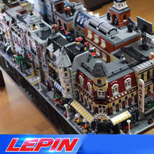 DHL Lepin STADT Street view architecture Creators 15002 15003 15004 15005 15007 15008 15035 legoed(China)