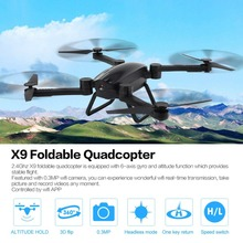 FPV Foldable Quadcopter with 2.4G 0.3MP Wifi Camera X9 Altitude Hold Real-time Headless One Key Landing Drone Profissional