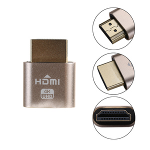 Image 3 - Mini Portable VGA Virtual Display Adapter HDMI 1.4 DDC EDID Dummy Plug Headless Ghost Display Emulator Lock plate 1920x1080@60Hz