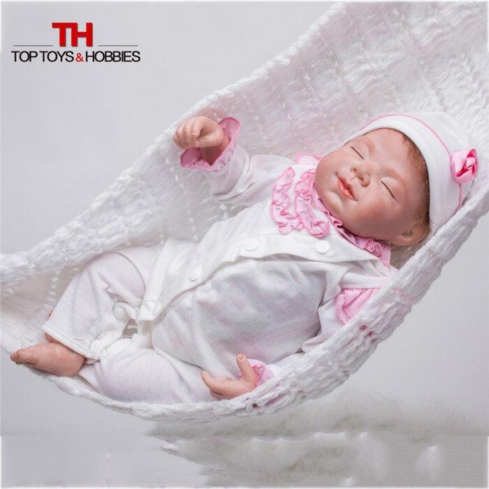 ̿̿̿ •̪ 55cm Silicone Vinyl Reborn ④ Baby Baby Girl Doll