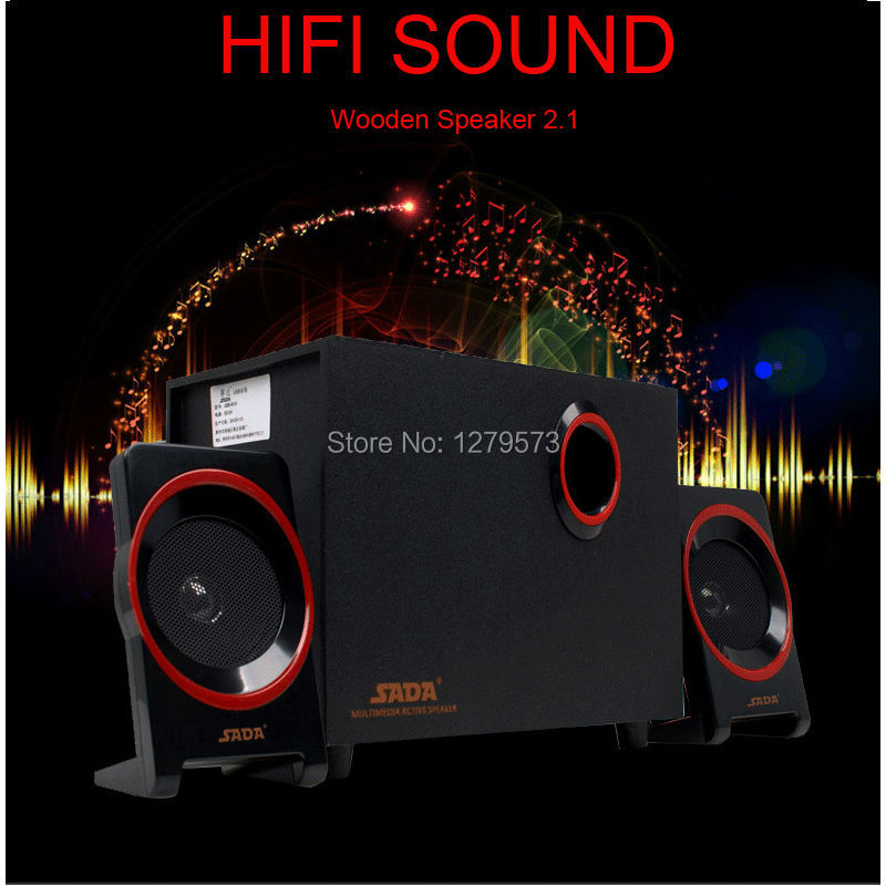 2.1 USB Computer Speakers with Bass Subwoofer & Dual Stereo Satellite Speakers For Computer, Laptop, PC, Phone, PSP and Gaming
