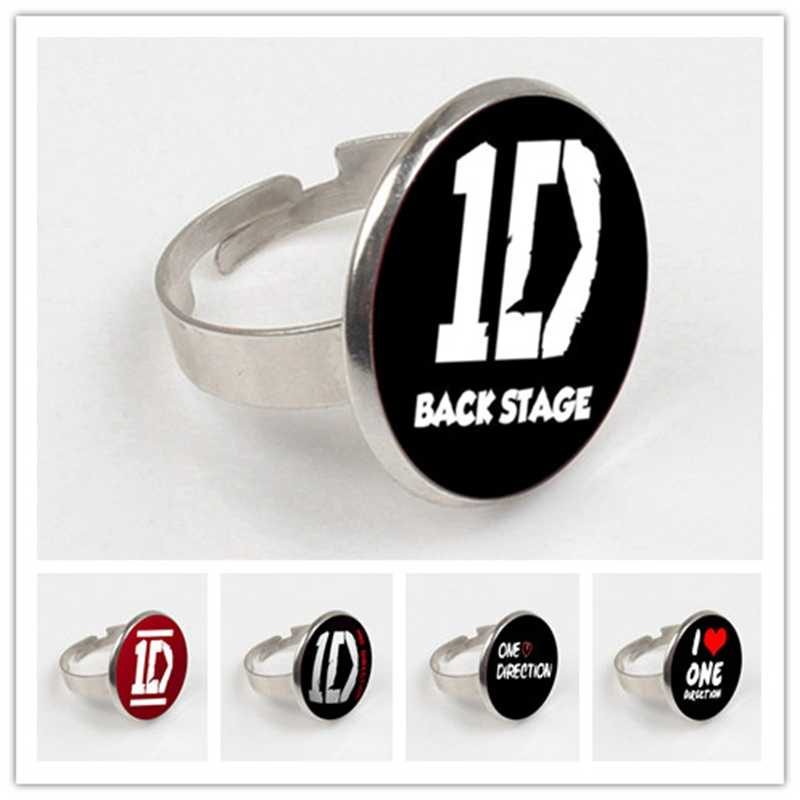 GDRGYB 2019 Casual Gift Glass ring Jewelry One Direction ID Fashion Statement ring For Women & Men ring