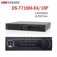16CHกล้องวงจรปิดNVR 16 POE DS-7716NI-E4/16จุดOnvifบันทึกวิดีโอWDR HDMI VGA 4 SATA HDDสนับสนุนการปรับปรุงการรักษาความปลอดภัยNVR...