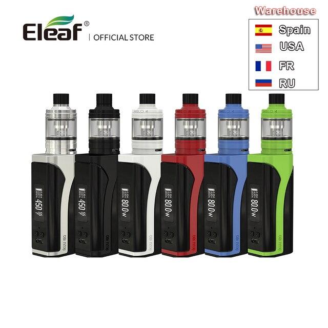 บิ๊กขายต้นฉบับEleaf IKuu I80พร้อมMELO 4ชุด2Ml/4.5Ml E Liquidความจุ3000MAhแบตเตอรี่510ด้ายEC2หัวVape