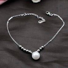 Dolaime очарование ссылки из нержавеющей стали перл браслеты простой стиль ювелирные изделия для женщин, длина 28 см GA0021