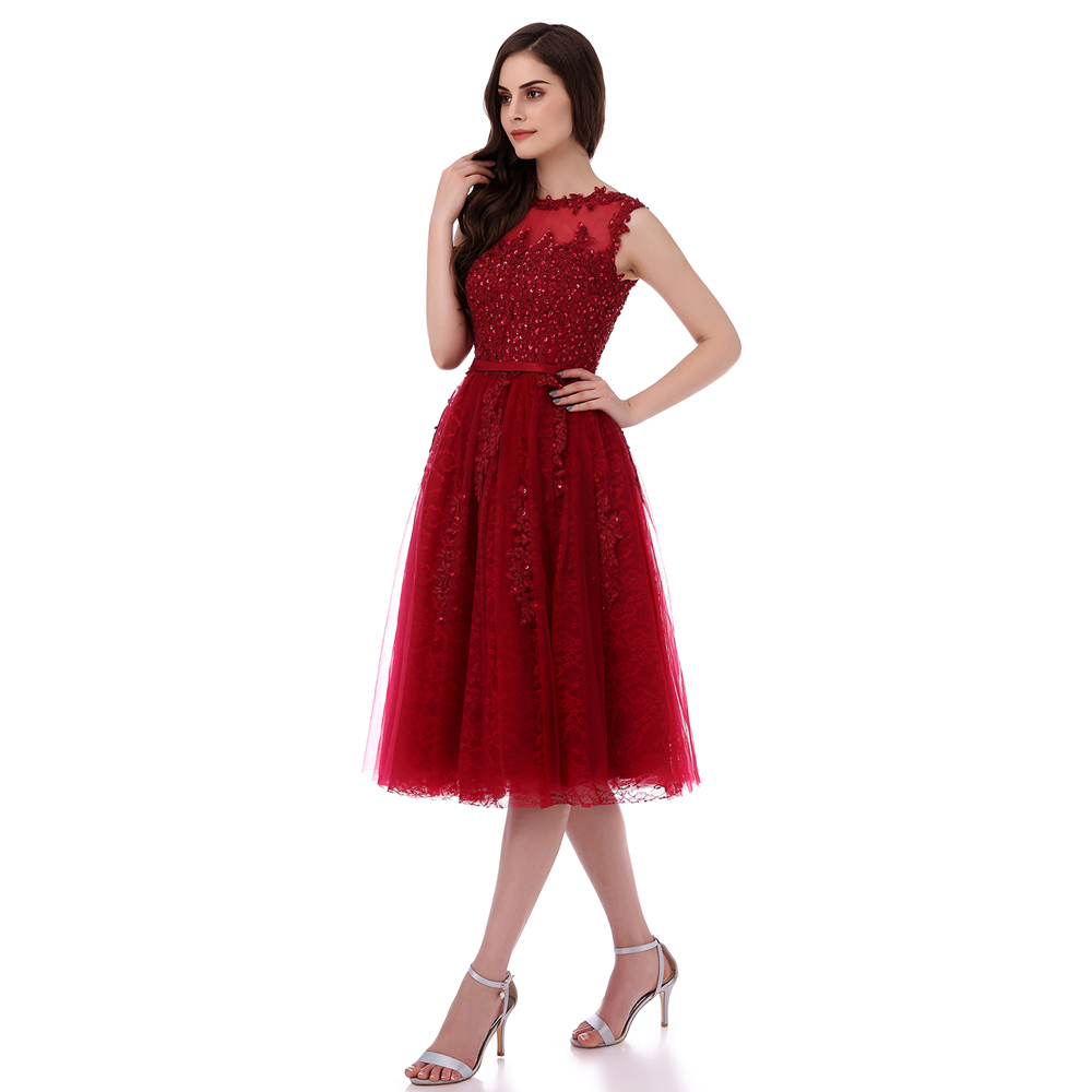 PotNu0027Patio Short Prom Dresses 2017 Wine Red Plus Size High Quality 6 Layers  Luxury Appliques And Beading Elegant Evening Dresses In Prom Dresses From  ...