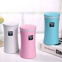 Small OS Negative Ions Air Humidifier USB MINI Diffuser Cylindrical Cup LED Light Mist Maker Fogger