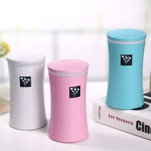 Small-OS Negative Ions Air Humidifier USB MINI Diffuser Cylindrical Cup  LED Light Mist Maker Fogger For Home/ Car /Office