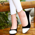New Fashion Women's shoes  Wedges  Concise  Comfortable  Mid Heels Slip-On Pumps Party Pointed Toe  office work Shoes Size 33-43