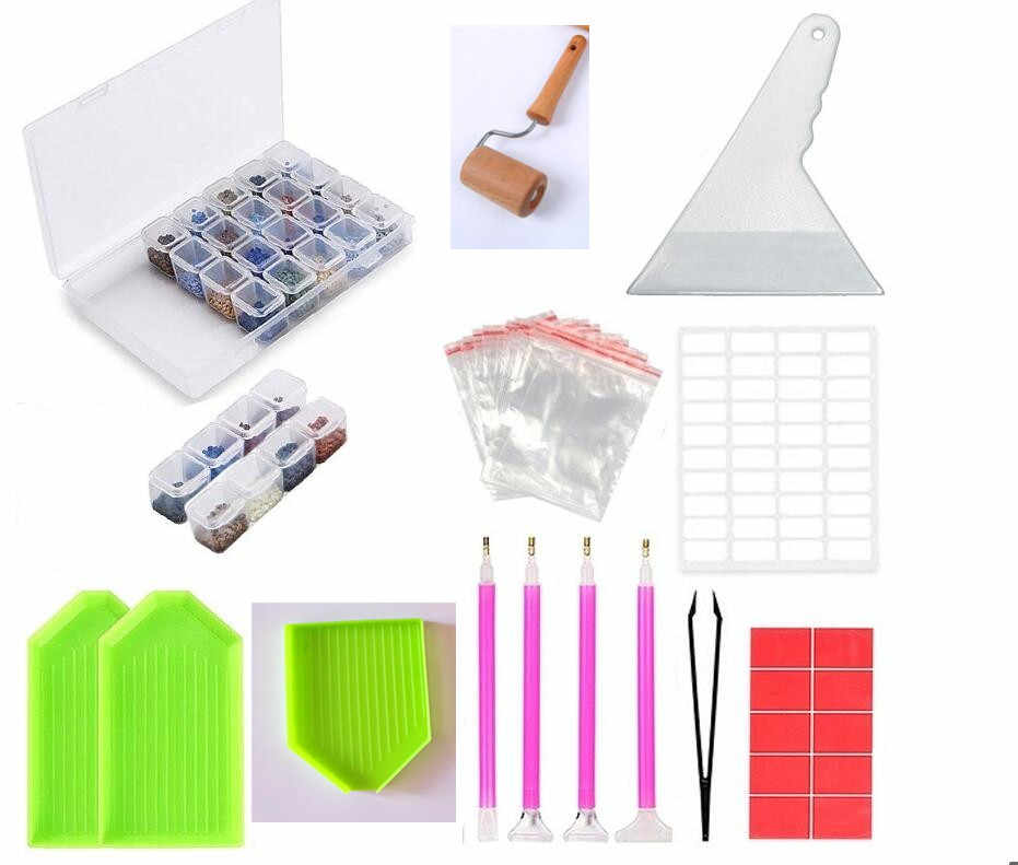 5D Diamante Strumenti di Pittura e Kit di Accessori Per Adulti o Bambini di Diamante Ricamo Mosaico di Colla Penna Kit