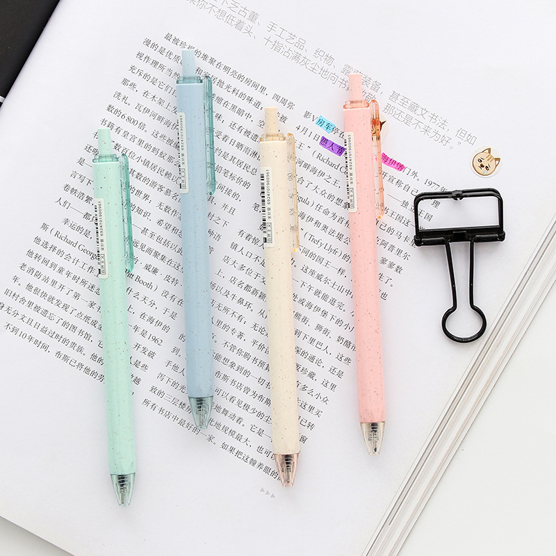 4pcs Eco Nature gel pen 0 5mm ballpoint Black color pens for writing Stationery Office School supplies Canetas escolar F411 in Gel Pens from Office School Supplies