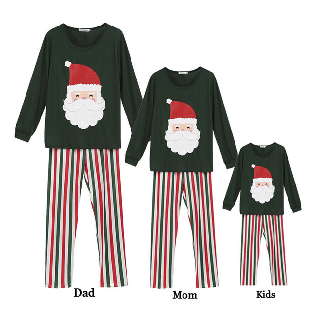 b4c65a3680 Christmas Father Mother Kids Clothes Santa Family Matching Outfit Plus Size  Casual Men Women Baby Boy Girl Sleepwear Pajamas Set
