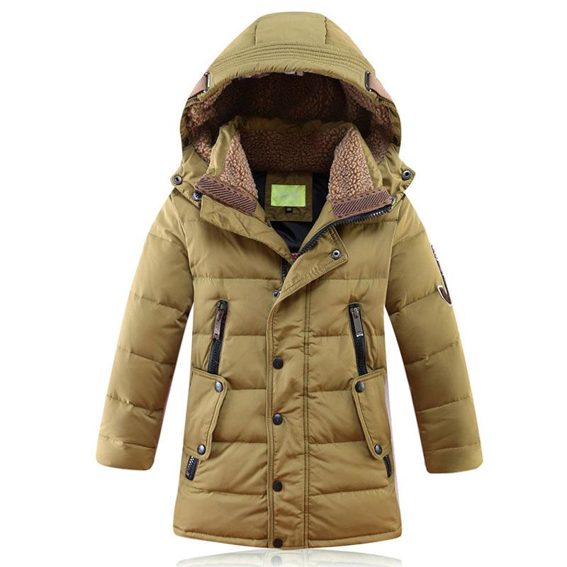 2017 Boys Winter Thick Jacket High Quality Boys Hooded Down Jacket And Long Sections Warm Parkas In Winter Clothing 5-14 Years men s 2016 winter warm white duck down jacket high quality and long sections thick hooded down coats hoodie cashmere coat ad