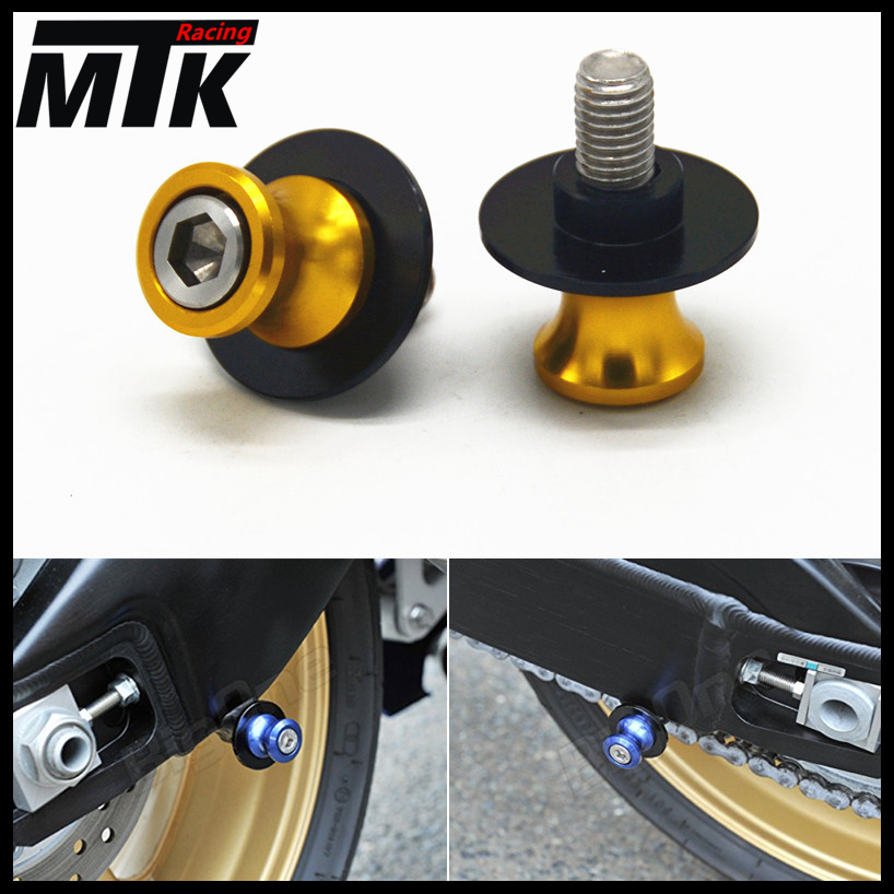 MTKRACING Free delivery For YAMAHA YZF-R3 YZF-R25 YZF R3 R25  Motorcycle CNC Aluminum Swingarm Spools slider 6mm stand Screws motorcycle cnc aluminum mudguard rear fender bracket license plate holder light for yamaha yzf r25 r3 yzf r25 yzf r3