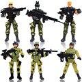 6 unids/set Elite Force Recon Marinos Figura de Acción modelo Moderno soldados de juguete de armas de las fuerzas especiales de la policía Militar de tropas especiales