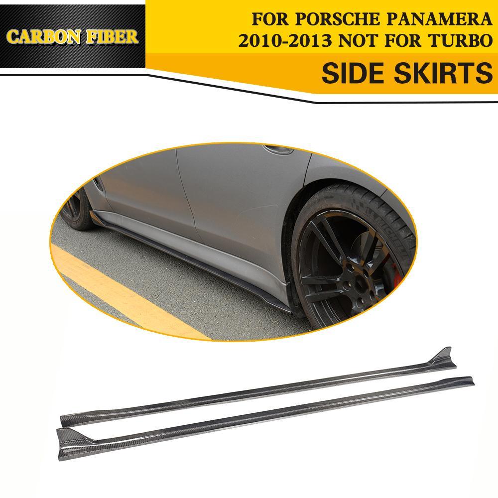 Автогонки Боковые Юбки Карбоновый Фартук Стайлинга Автомобилей Для Porsche Panamera В 2010-2013