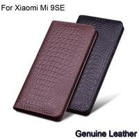 Luxury Genuine Leather flip For Xiaomi Mi 9SE Leather Half pack phone case For Xiaomi Mi 9 SE phone cases shockproof Mi9SE