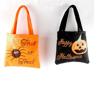 Loot Party Pumpkin Trick Or Treat Tote Bags Kids Child Candy Bag Toy Hand In Storage From Home Garden On