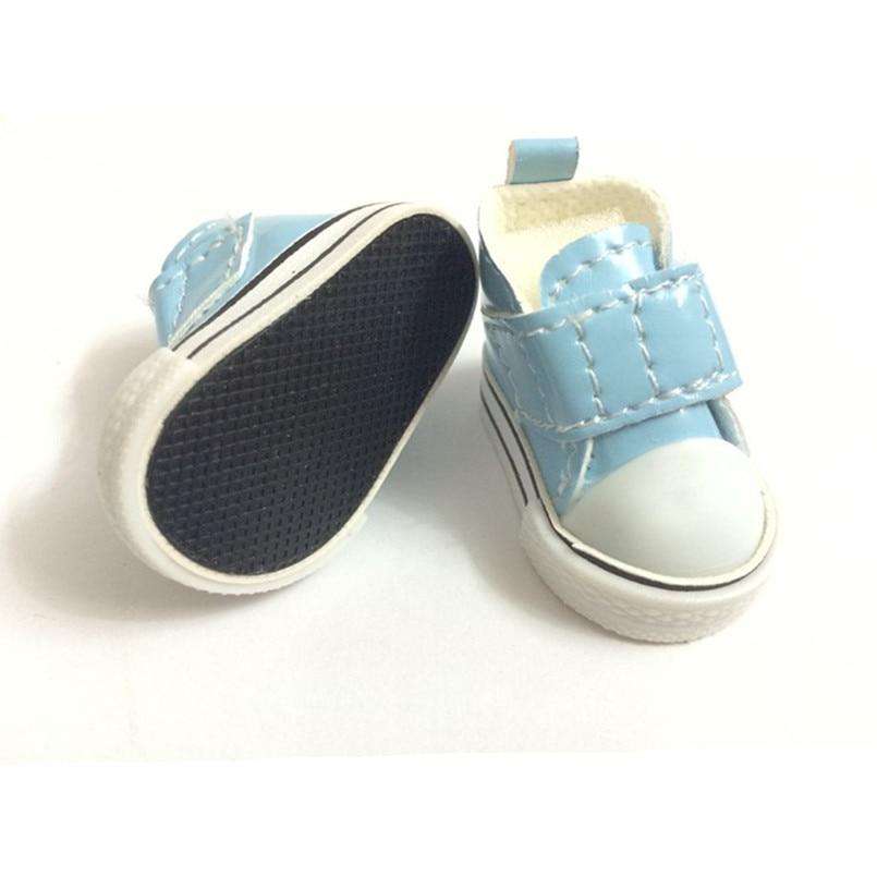5 سنتيمتر أحذية السببية سنيكرز 1/6 bjd دمية للدمى الروسية ، pu المواد البسيطة لعبة الأحذية دمى اكسسوارات 100 زوج / الوحدة