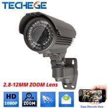 Onvif 1080 P переменным фокусным расстоянием IP Камеры 2.8 мм-12 мм зум-объектив ИК Ночного Видения videcam Дома secrity CCTV камера для видео наблюдения комплект