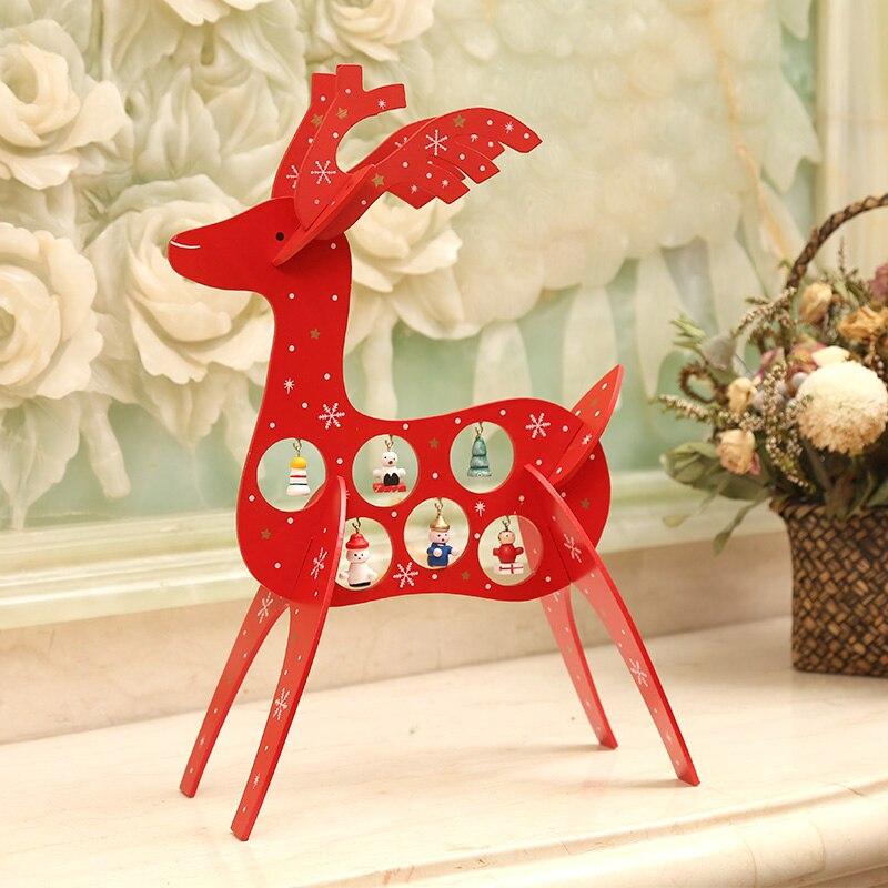 Aliexpress.com : Buy 2017 Wood Christmas Ornaments Deer Elk Wooden ...