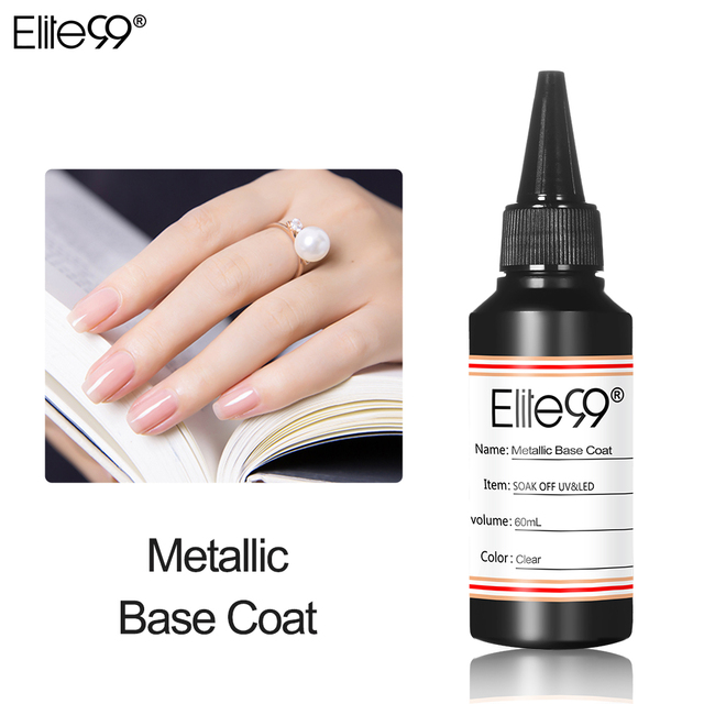 Elite99 60 ml Matte Metallic Verstärken Luft Trockenen Primer Matt UV Gel Polish Top Basis Coat Soak Off UV LED gel Lacke Nail art