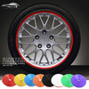 2015 Car Wheel Hub Tire Sticker 8M Roll Lot Car Decorative Styling Strip Wheel Rim Tire