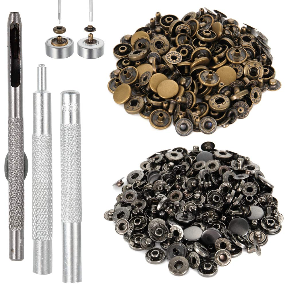 Newly 12.5MM 40 Sets Fasteners With 4 Pieces Fixing Tools Press Studs  Metal Snap Button Snaps Clothing Tool Kit @ 9