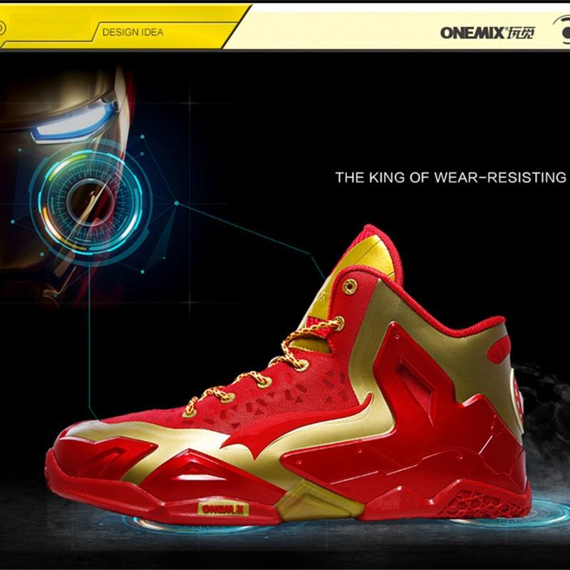 Новый мощный оригинальное качество Onemix Баскетбольная обувь мужчины корзина Главная Ау ...