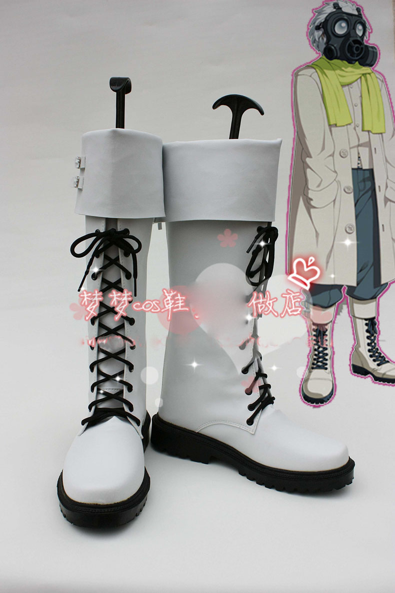 Anime DMMD Dramatical Murder Clear Boots Cosplay costume shoes Custom Made Halloween Free Shipping