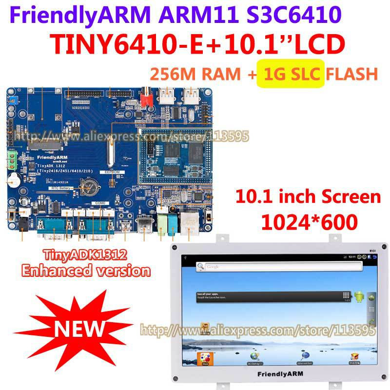 FriendlyARM S3C6410 Enhanced Version TINY6410 ADK1312 10 1 inch TFT touch Screen 256M RAM 1G Flash