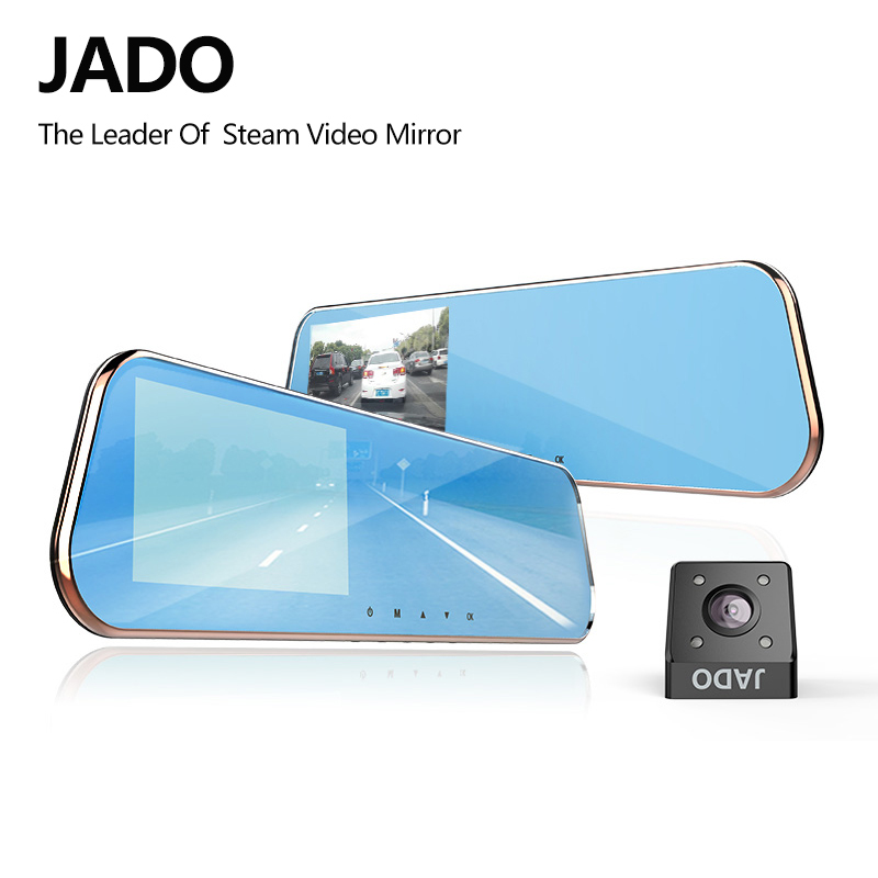 JADO D610S Novatek Car Dvr 5.0 IPS Screen Full HD 1080P Car Dvrs Dual Lens Recorder Car Camera Dashcam Rearview Mirror Registrar цена 2017