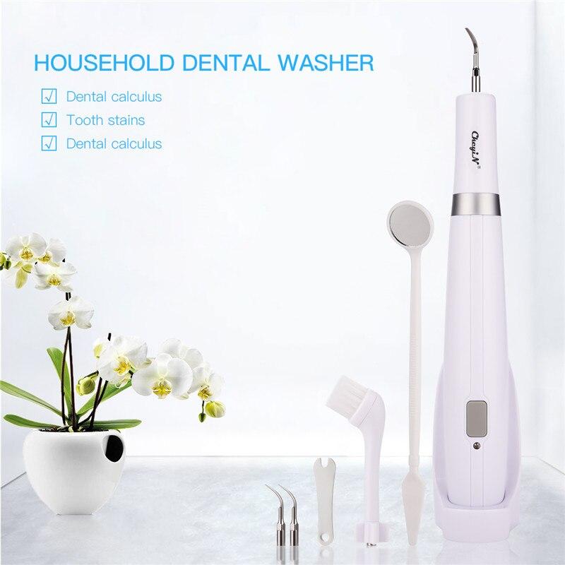 Plaque de calcul dentaire électrique détachant les taches de fumée Vibration à haute fréquence élimination du tartre sonique outil de nettoyage blanchiment des dents