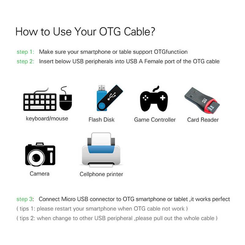 Tipe-C Usb Adaptor Mikro Usb untuk USB 2.0 Converter OTG Kabel untuk Android Galaxy S3/4 S5 xiaomi Tablet PC untuk Flash Mouse Keyboard