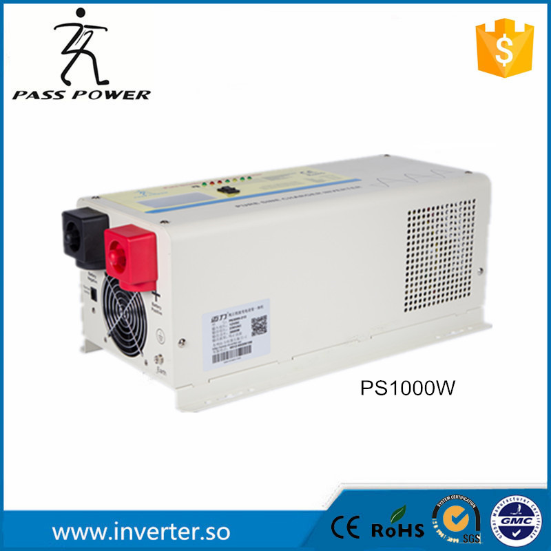 Factory selling ups system LCD display 50Hz 12v/24v 1000w dc to ac inverter charger inverter pure sine wave dc ac inverter