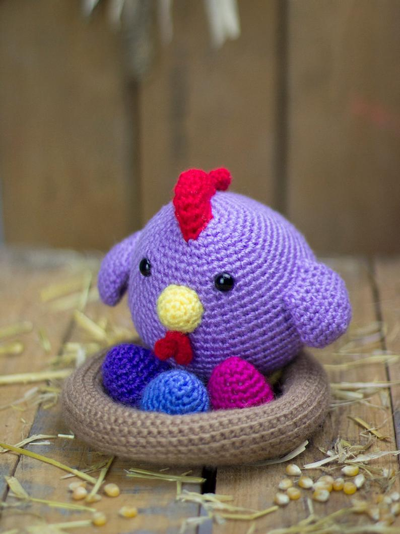 Crochet Toys  Amigurumi  Handmade    Rattle Chick   Number  DXB0018